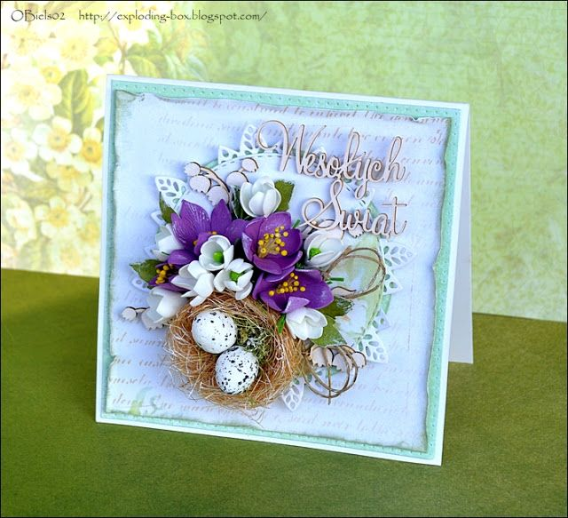 Blog Craft Passion: Wielkanocna karteczka / Easter card