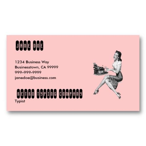 17 best pin up girl business cards images on pinterest business retro secretary business card template colourmoves Choice Image