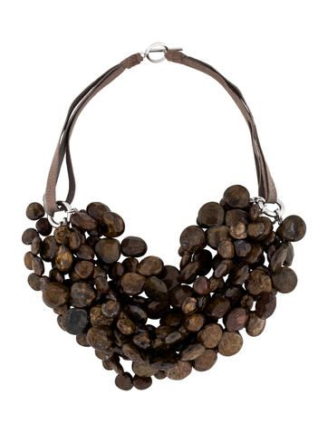 Brunello Cucinelli Bronzite Necklace