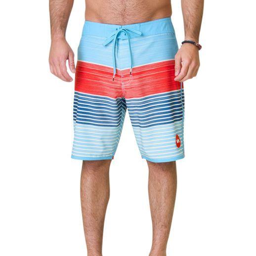 RVCA Maui Blue Sunday Stripe Boardshort