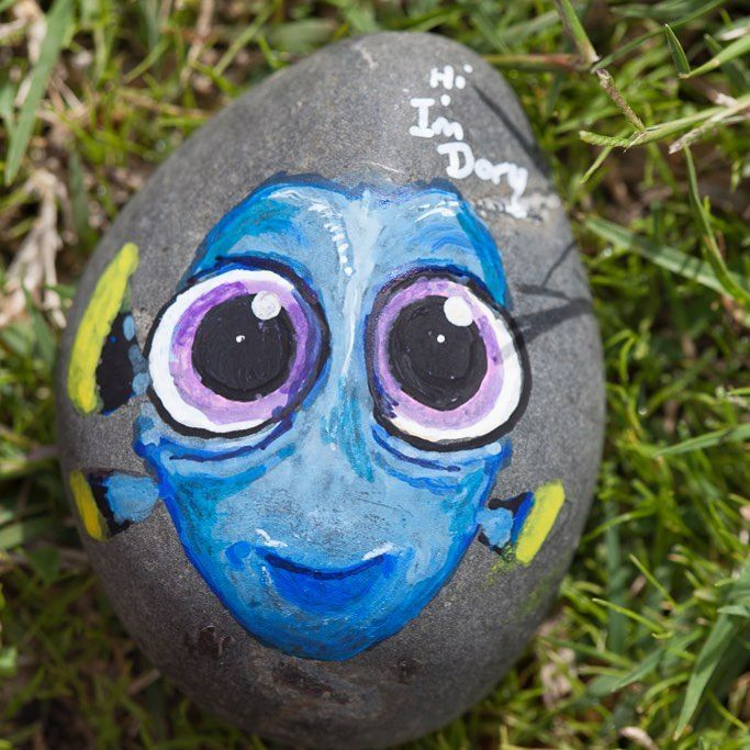 Baby Dory. pebble art