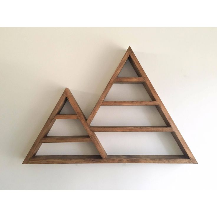 Best 25 triangle shelf ideas on pinterest crystal collection rock collection and rock - Triangular bookshelf ...