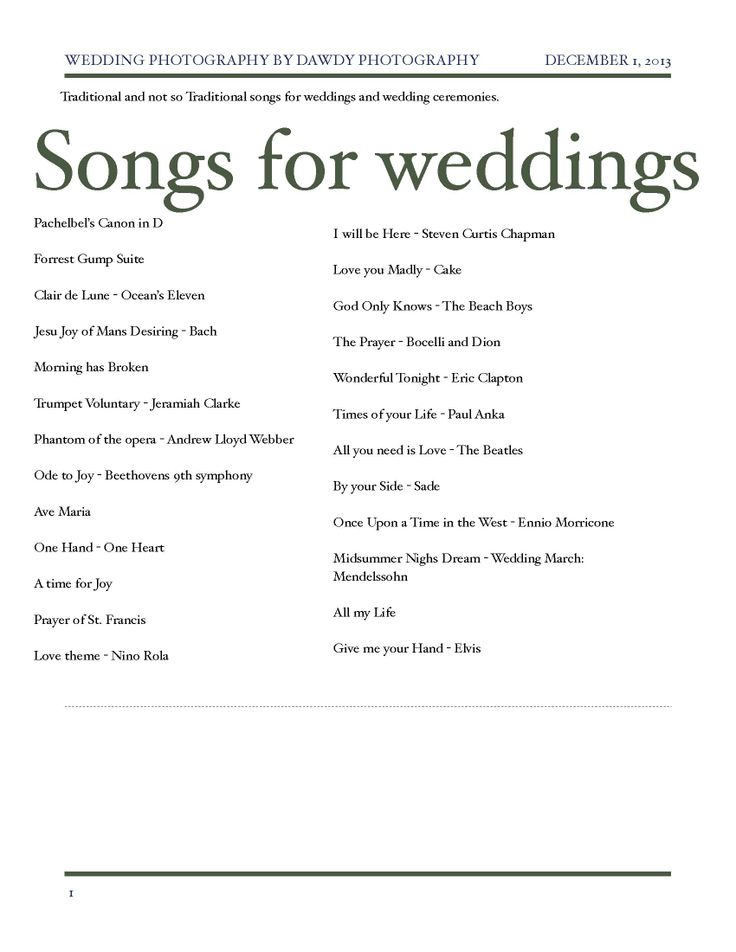 The 25 Best Traditional Wedding Songs Ideas On Pinterest