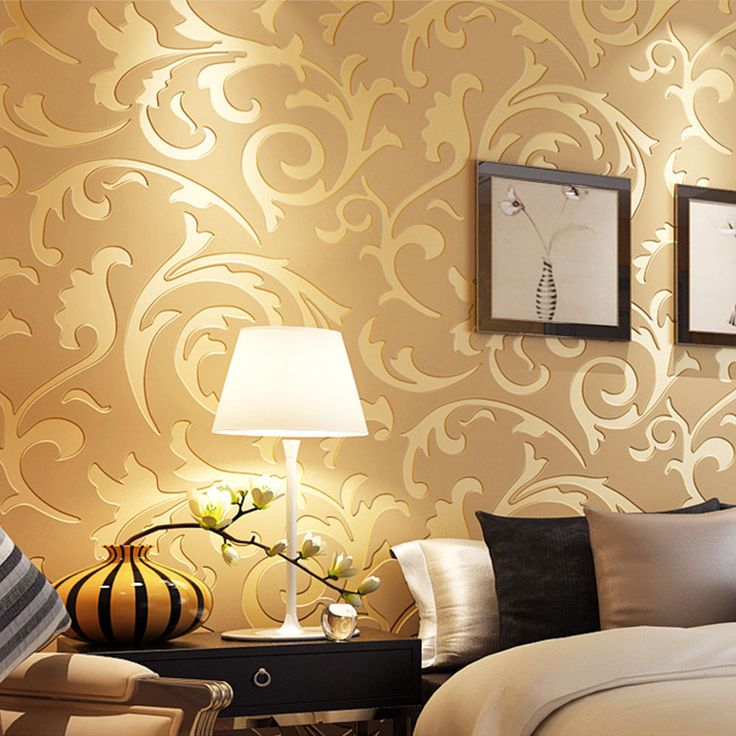 Damask 3D Embossed Textured Non-woven Wallpaper