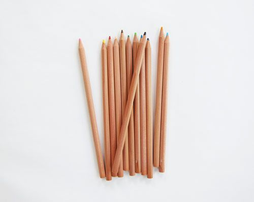 MUJI colored pencils.