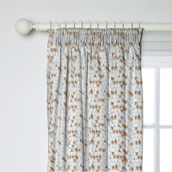 Scandinavian Curtains Lined Jaffa Blue Made to by OOMFinteriors