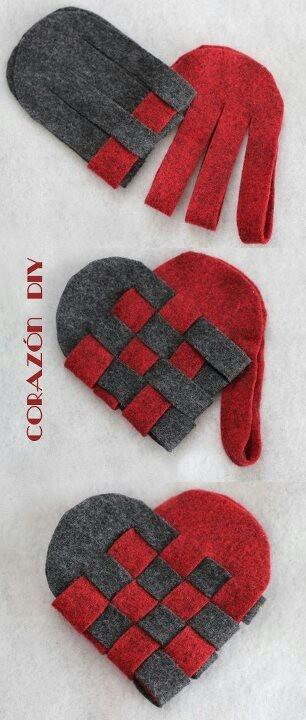 Corazón de fieltro