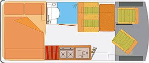 144 cross bed bathroom 4 seater.  nice layout.