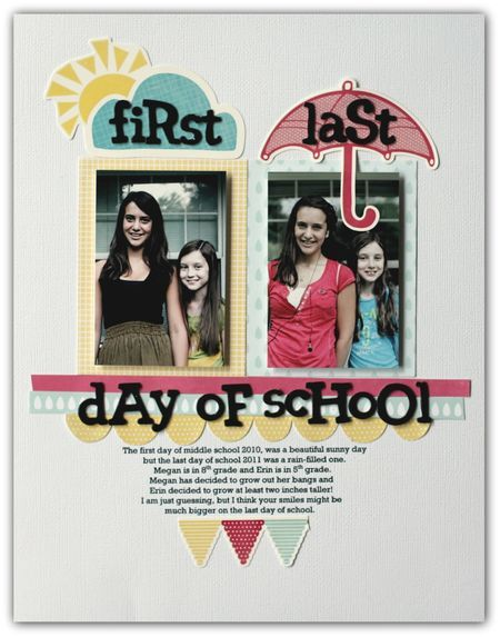 Good for home and school memory books - I like the idea of taking the picture from the first & last day of school  to show how much they've grown and writing about the highlights from the year.