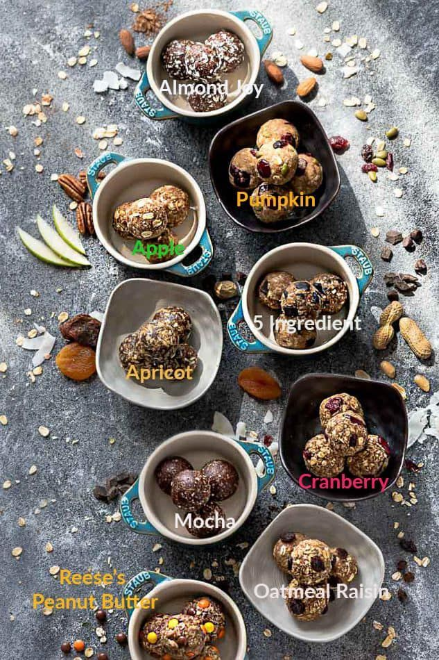 The best Energy Bites - the perfect healthy snack for fueling up or packing on the go. Best of all, easy to customize with these favorite delicious flavors.