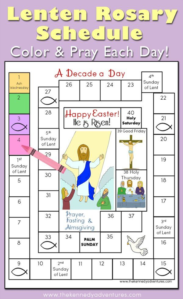 Get a jump start to get your family prayer life started this Lent! Download our Lenten Rosary schedule, and spend time saying the Rosary with your children.