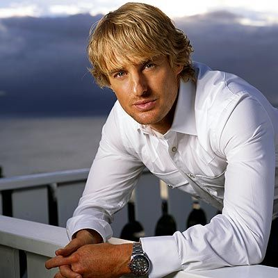Owen Wilson-the nose isn't noticeable when you throw on a crisp white shirt and that serious look;)