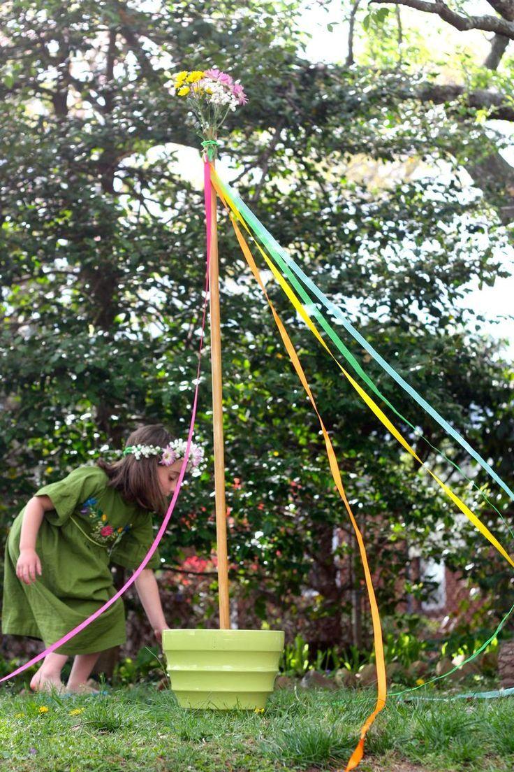 May Day Celebration And A Diy Maypole May Days May Day Baskets Beltane