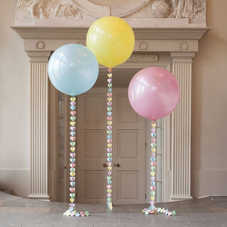 pastel rainbow giant heart balloon by bubblegum balloons | notonthehighstreet.com