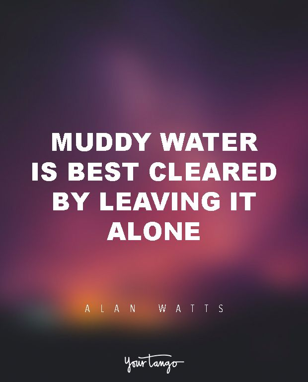 "15 Powerful Alan Watts Quotes Will Make You Rethink Your ENTIRE Life ""Muddy water is best cleared by leaving it alone."""