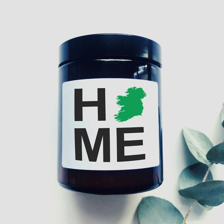 HOME - Shamrock Scented Candle - Moving Gift - New Home - Thinking of You - Missing Ireland - Homesick - No Place Like Home by TheIrishChandler on Etsy