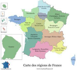 Treize nouvelles régions métropolitaines, quatre régions et collectivités d'outre-mer le 1er janvier 2016