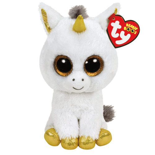 Peluche Pégase la licorne taille moyenne TY Beanie Boos