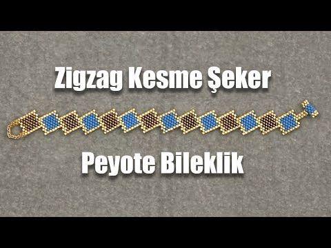 Zigzag Kesme Şeker Peyote Bileklik - YouTube