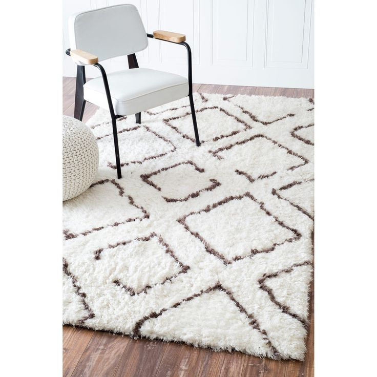 nuLOOM Soft and Plush Moroccan Trellis Ivory Brown Shag Rug (9' x 12') - Overstock™ Shopping - Great Deals on Nuloom 7x9 - 10x14 Rugs