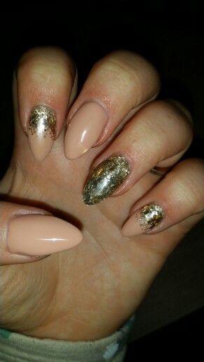 Nude champagne glitter