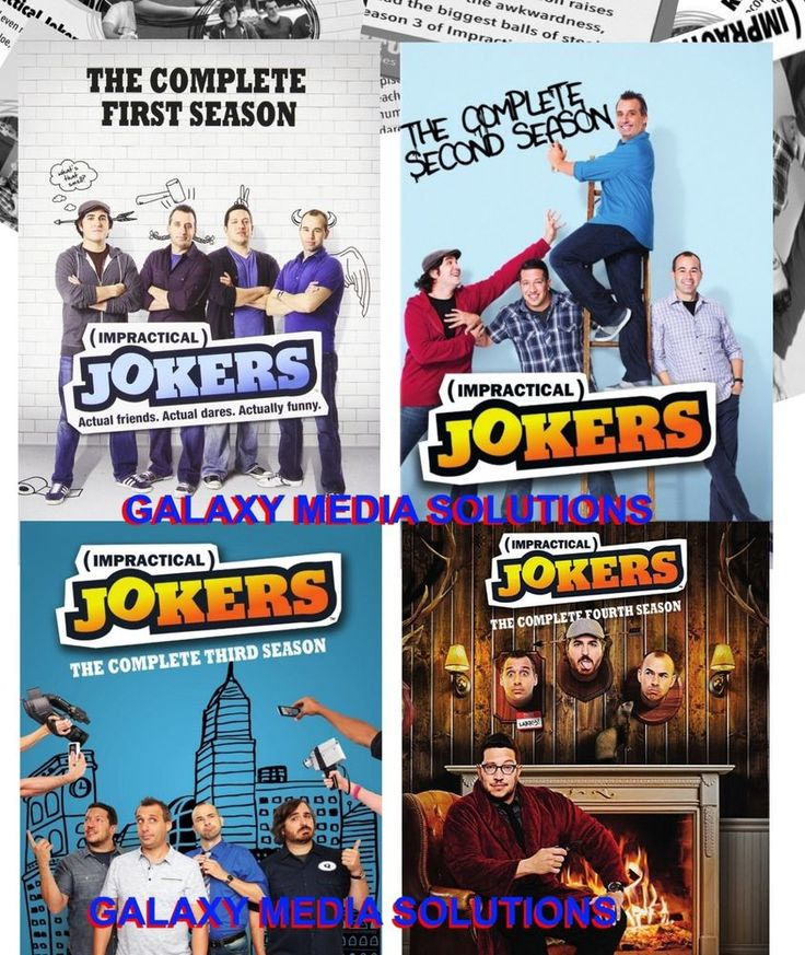 Impractical Jokers Season 1-4 One Four DVD Bundle (12-Disc 2016) 1 2 3 4 New.. HARD to find! new/sale/freeship