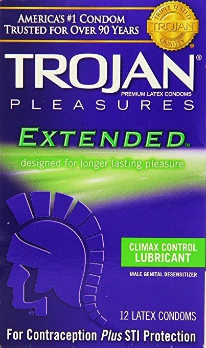 Trojan Extended Climax Control Lubricated Condoms, 12 Count Climax control lubricant - clear and odorless lubricant with special additive to help prevent premature ejaculation and provide staying power Made from Premium Quality Latex - To help reduce the risk Special reservoir end - for extra safety Each condom is electronically tested - to help ensure reliability