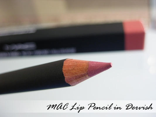 MAC Lipliner in Dervish. This color is awesome because you can wear it with so many different lipsticks. It is definitely a staple in my makeup bag!