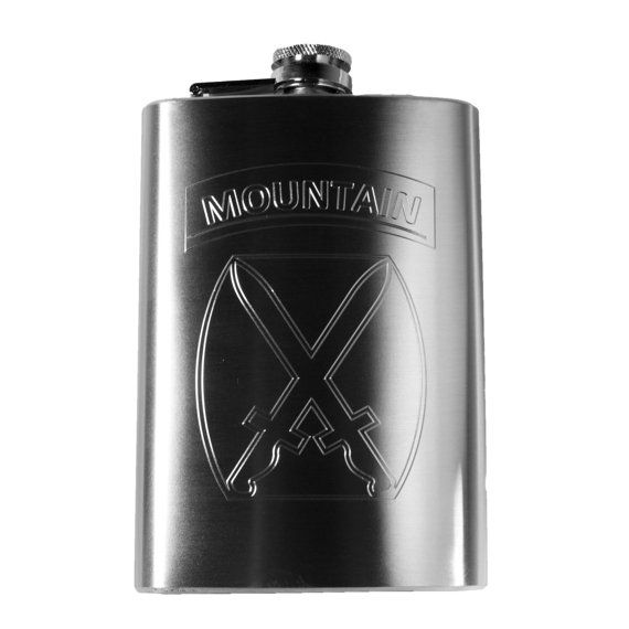 10th Mountain Division Hip Flask by HipFlaskPlus on Etsy, $19.99