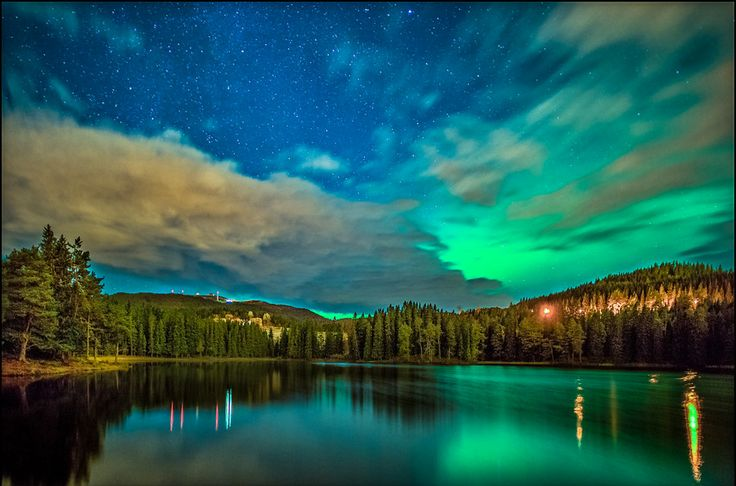 Aurora over Baklidammen by Aziz Nasuti on 500px