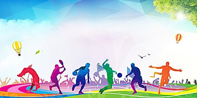 Flat Sports Background | Sports day banner, Sports day banner ...