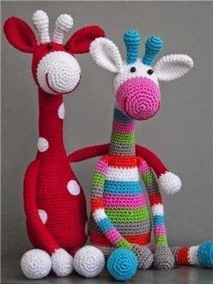 Веселые жирафы | 800 схем амигуруми на русском