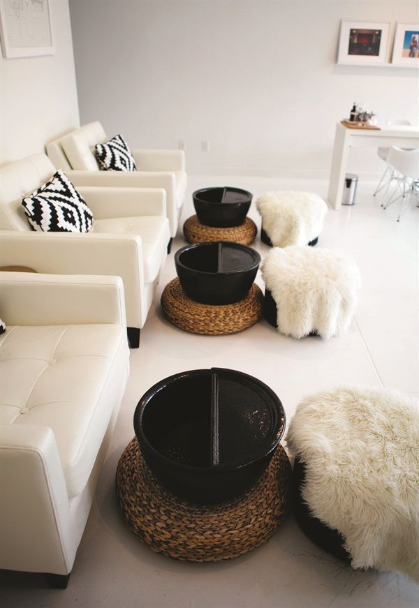 Foot stool and basin idea. Again non bulky and minimal space used