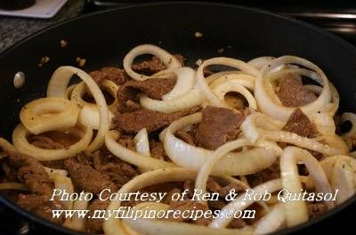 Filipino food: Bistek