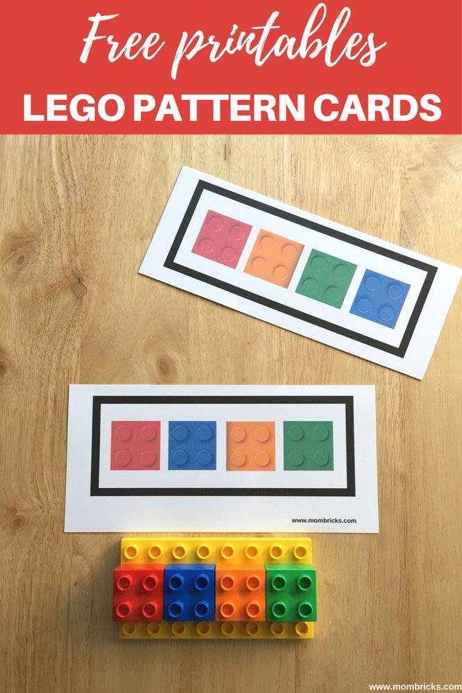 Free LEGO Pattern Cards  LEGO Activities for preschoolers  Actividades educativas con ladrillos LEGO DUPLO  Recursos gratis  www.mombricks.com