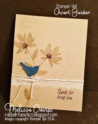 Avant Garden, SAB 2017, Birds and Blooms thinlits, Delicate Details, Stampin Up