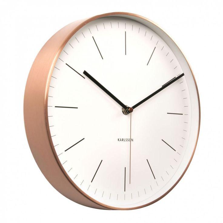 Karlsson Minimal copper and white wall clock - Clocks - Home & Kitchen - Gifts & Home