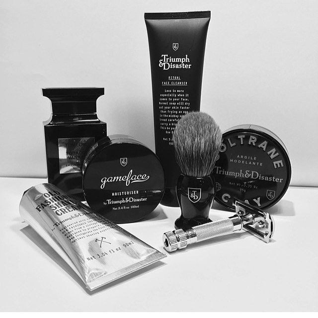 Coming to Mary & Tex just in time for Fathers Day, Triumph & Disaster for men- check it out! #apothecary #skincare #mensskincare #ritual #ylf #triumphanddisaster #