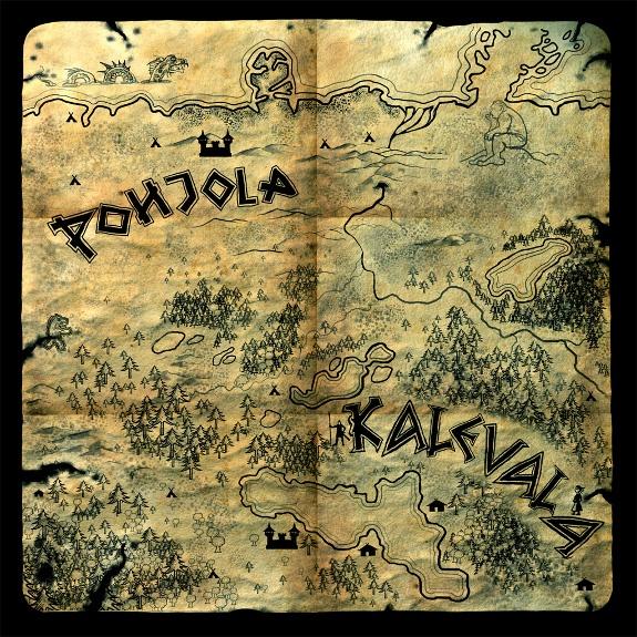 Il Kalevala si svolge intorno a due regioni, quella di Pohjola, nel nord, verso la Lapponia, e quella di Kalevala, ovvero la Carelia.  -MEET MYTHS-