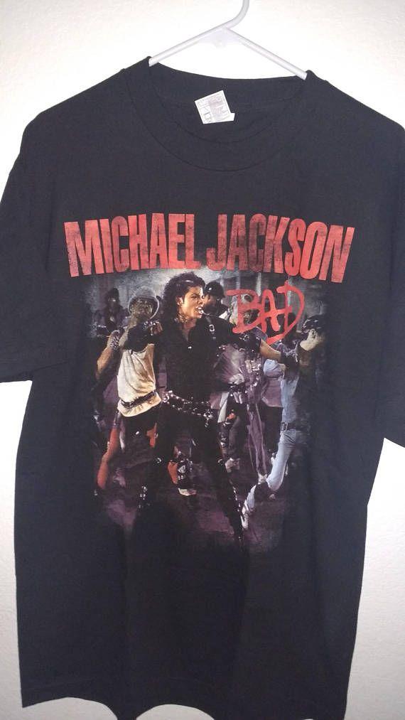 aafbcd274ad Vintage Michael Jackson T-shirt, Michael Jackson Tees, Bad, Bad Tour, Michael  Jackson, Jackson Bad shirt, Vintage Jackson, Bad t shirt