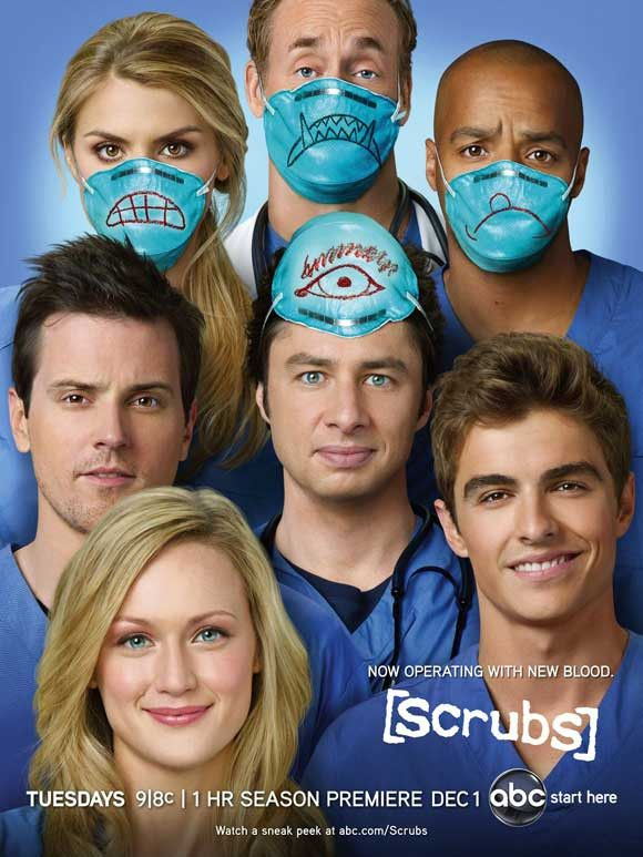 "CAST: Zach Braff, Sarah Chalke, Donald Faison, Neil Flynn, Ken Jenkins, John C. McGinley, Judy Reyes, Dave Franco; DIRECTED BY: Bill Lawrence; Features: - 11"" x 17"" - Packaged with care - ships in stu"