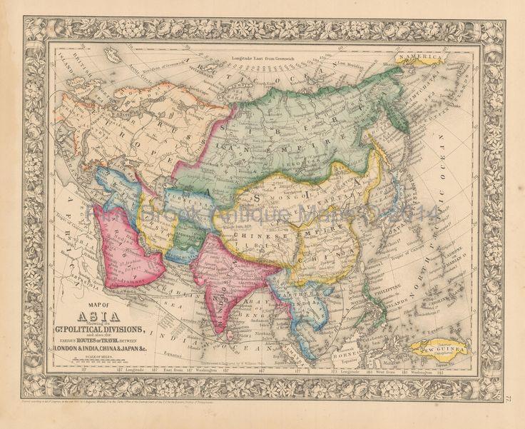 16 best Asian Continent Antique Maps images on Pinterest Antique