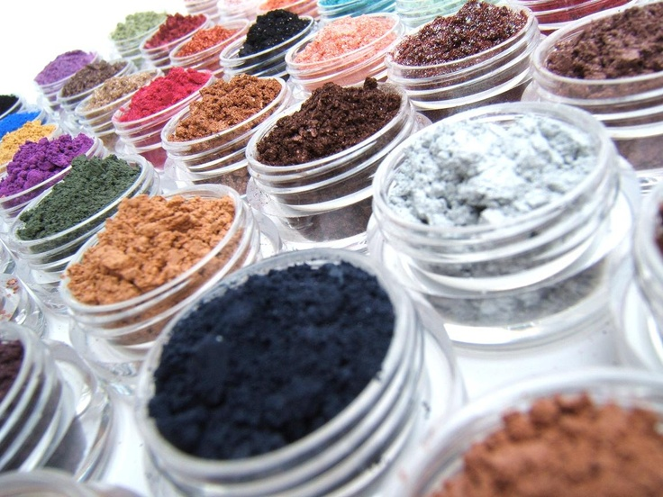 WOW, check out these colors - good for your skin, even better! handmade makeup