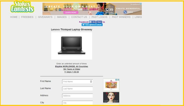 Win Lenovo ThinkPad Laptop – Today's Women Freebies