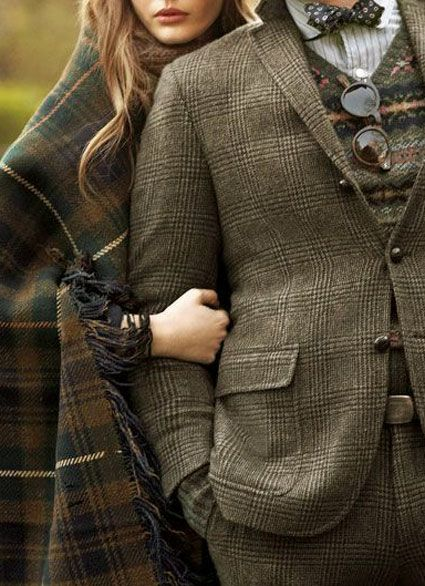 ♔ Tartan and tweed