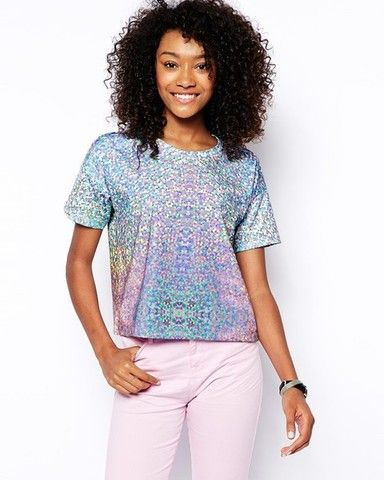топ ASOS top glitter digital scuba