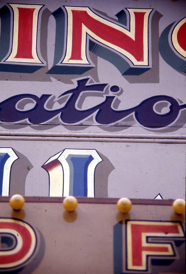 Fairground lettering