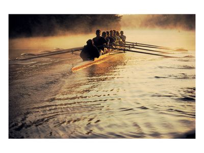 Team Rowing Down the River Art Print at AllPosters.com