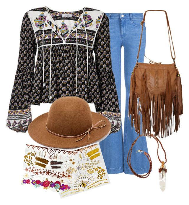 """""""Boho is best"""" by neongypsynz on Polyvore featuring STELLA McCARTNEY, RHYTHM and Glo Tatts"""