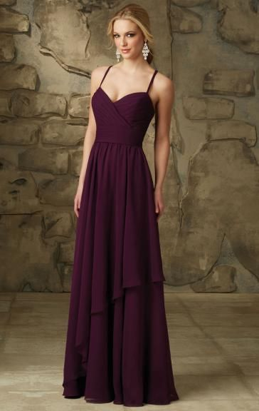 Eggplant Unusual Bridesmaid Dress BNNCG0003